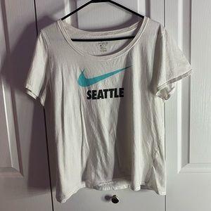 white Nike Seattle t-shirt!